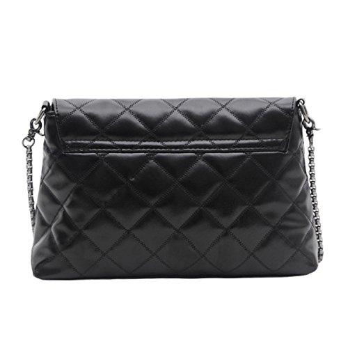 Ladies Ling Kette Tasche Messenger Schultertasche Black