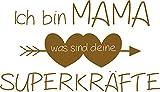GRAZDesign 300210_57_WT091 Wandtattoo lustiges Spruch über Mama - Geschenk zum Muttertag/Geburtstag - ideal als Wand-Dekoration für Wohnzimmer (99x57cm // 091 Gold)