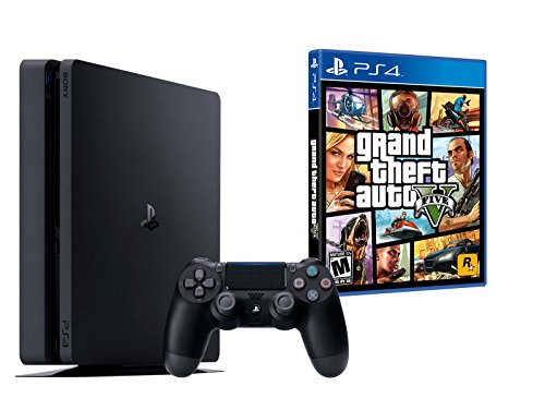 PS4 Slim 1To Noir - Playstation 4 + GTA V