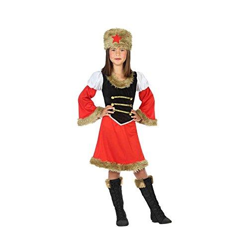 (ATOSA 56815 Russin Kostüm für Mädchen Costume Russian Woman 7-9, Rot/Schwarz, 7 a 9 años)