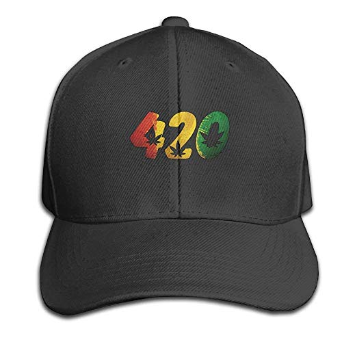 Sdltkhy 420 Cannabis Weed Snapback Sandwich Cap Baseball Cap Hats Adjustable Peaked Trucker Cap C1