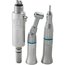 Nuevo kit de piezas de mano de baja velocidad de la turbina dental de piezas de mano en forma de arco y ángulo recto Push Button motor de aire 4H E-type