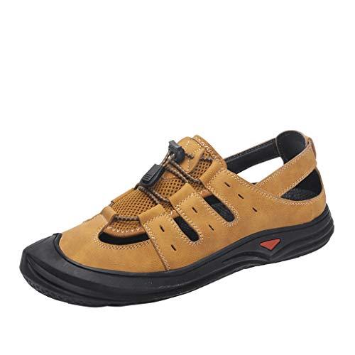 Epig Herren Outdoor Sportschuhe Mesh One Foot Pedal Wanderschuhe Atmungsaktive Sport Sandalen
