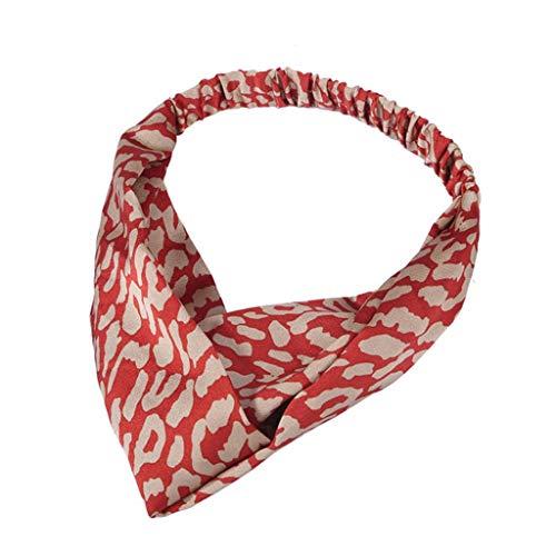 Stirnbänder Haar Stirnband Haarschmuck Weinlese-Blume druckte elastische Kopf-Verpackungs-verdrehte Nette Haar-Zusätze ()