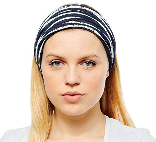Antonia York Stirnband für Damen Haarband Kopfband Bandana Headwrap (Breton, Baumwoll-Poly-Lycra-Jersey) Poly Turban