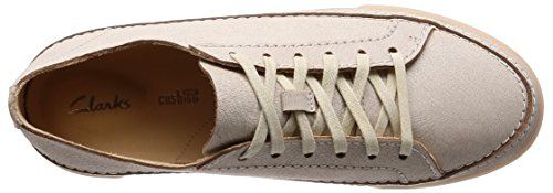 Clarks Damen Hidi Holly Sneaker Weiß (White Leather)