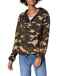 9fa84806846e Urban Classics Damen Camouflage Übergangsjacke Ladies Camo Pull-Over  Jacket