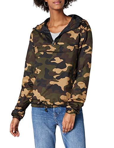 Urban Classics Damen Ladies Camo Pullover Jacke, Mehrfarbig (Woodcamo 00841), Medium (Herstellergröße: M) Camouflage Womens Sweatshirt