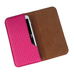 i-KitPit : PU Leather Flip Pouch Case Cover For iBall Andi 4.7G Cobalt (PINK)