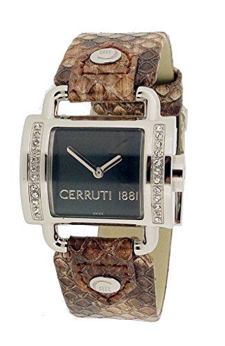 Cerruti - CT066272001 - Montre Femme - Quartz - Analogique - Bracelet Cuir Rose