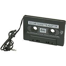 Pinzhi Coche Audio Cassette Cinta Adaptador Aux Cable 3.5mm Jack para MP3 MP4 CD Player Negro