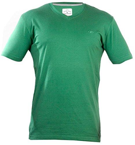 TOM TAILOR -  T-shirt - Maniche corte  - Uomo verde X-Large