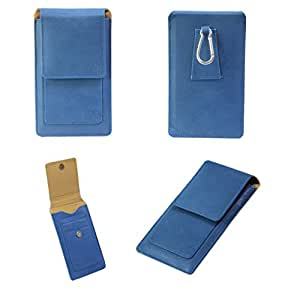 J Cover A15 F Nillofer Series Leather Pouch Holster Case For Micromax A65 Smarty 4.3 Dark Blue