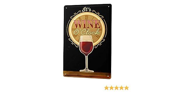 LEotiE SINCE 2004 Targhe Cartello Targa in Metallo Decorazione della Parete Party Retro Tempo Bicchiere di Vino Rosso Bar Pub Restaurant