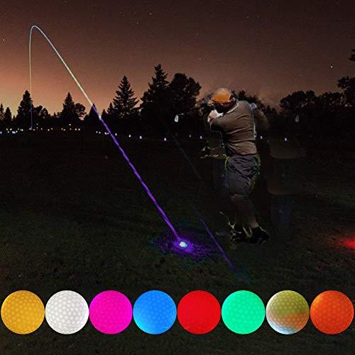 LED Leuchtender Golfball, 8 Farben Nacht Glof Golfbälle für Night Training Luxus Golf Praxis Kugeln für Golfliebhaber Spielen Am Abend