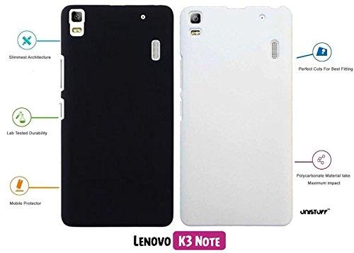 For Lenovo K3 Note[COMBO OFFER]: Unistuff™ Matte Finish Hard Case Back Cover for Lenovo K3 Note [SLIM FIT][FREE SHIPPING] (Black, White)