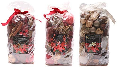 Aura Cinnamon, Cranberry, Vanilla Home Fragrances Potpourries Pack of 3-1245gm, 415gm Each, Cinnamon, Cranberry, Vanilla Fragrances
