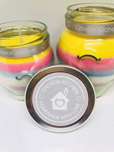 Croxon Kitchen Unicorn inspiriertes natürliches Sojawachs Duftkerze im Glas, 212 ml -