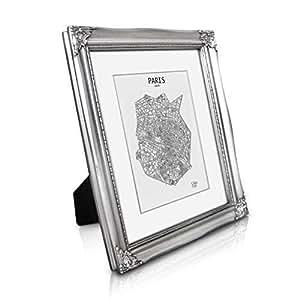 rococo by casa chic cadre photo 20x25 cm vitre en verre avec passe partout pour photo 13x18. Black Bedroom Furniture Sets. Home Design Ideas