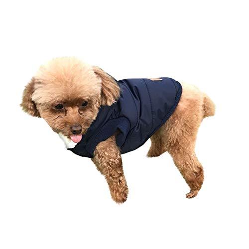 Mascotas suéter Invierno Perro Nieve del Perrito Traje Caliente Sudadera con Capucha Color sólido Ropa de Abrigo con Hebilla Oscura Gusspower