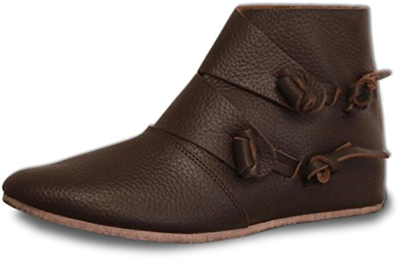 CP-Schuhe - Zapatos de Cordones de Piel Lisa para Hombre Marrón marrón Oscuro -