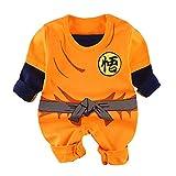 Mono para bebé recién Nacido Goku de Manga Corta con diseño de Dibujos Animados para niños y niñas - - 9-12 Meses