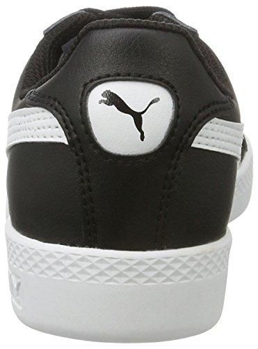 Puma Smash L, Baskets Basses Femme Noir(Black/White 01)