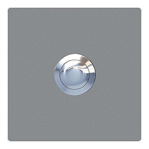 Klingeltaster, Design Klingel, Türklingel Edelstahl pulverbeschichtet Quadrat Grau Metallic - Bravios -