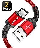Câble USB de type C, JSAUX (1+2M Pack de 2) Câble USB C A USB à C Chargeur rapide...