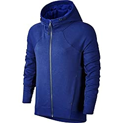 Nike Tech Fleece Fz Hoodie – Women's Sweatshirt, Women, Blueblack, S