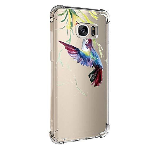 Pacyer kompatibel mit Galaxy S7 / S7 Edge Hülle Silikon cover Bumper [Ultra Dünn] Stoßfest Marmor grau hellblau TPU Schutzhülle Anti-Scratch Anti-Rutsch Handyhülle (1, Samsung Galaxy S7)