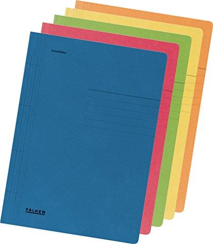 Falken Schnellhefter aus Recycling-Karton für DIN A4 kaufmännische und Behördenheftung farbig sortiert 10er Pack Blauer Engel Hefter ideal für Büro und Schule