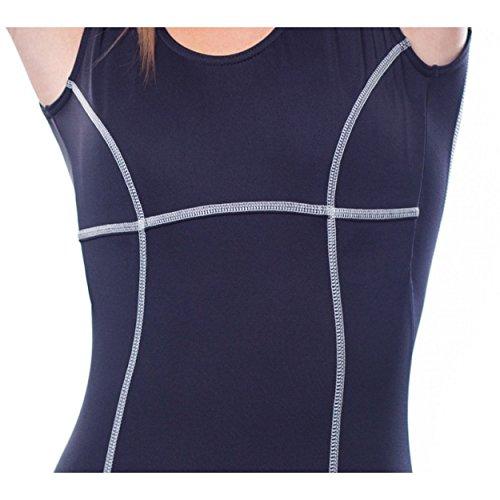 95af11526593 Aquarti Damen Badeanzug mit Bein Tiefer Rückenausschnitt Schwarz ...