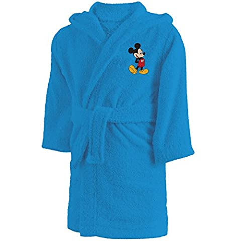 Disney Mickey 043222 Bademantel Star, Baumwolle Frottee, 6,8 Jahre circa 110-128 cm