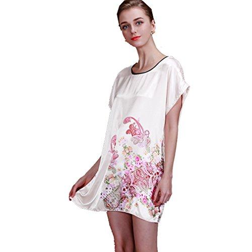 BOYANN Vestaglie e Kimono Fiore di Paisley Pigiami e Camicie da Notte Donna Modello 12