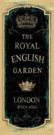 Garden View IX-reale inglese di controllo, Lisa-Stampa artistica su tela