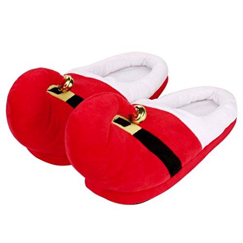 Xl Sml In Inverno Le Caldo Pantofole Natale Casa Verde A Fnkdor Del Cotone rosso Scarpe Pantofole Dintérieur Red Unisex YTqaxgwS