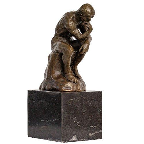 Aubaho Escultura reproducción Bronce Pensador Escultura