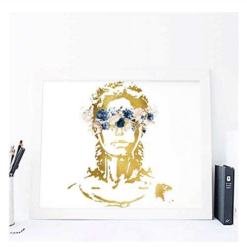 Lady Justice Art Canvas Painting Picture Law Student Gift Attorney Poster Watercolour Art Prints Lawyer Office Wall Art D-60x80cm Sin marco