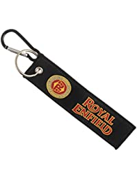 Techpro Premium Quality Cloth Locking Keychain With Doublesided Royal Enfield Design