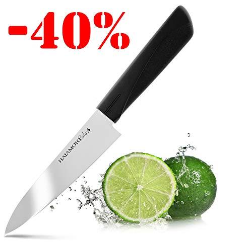 HATAMOTO Cuchillo Japones - Cuchillos de Cocina Profesionales - Acero Inoxidable - Cuchillo Multiuso para Carne Pescado y Verduras - Cuchillo Cebollero Profesional - Multiuso 12 cm