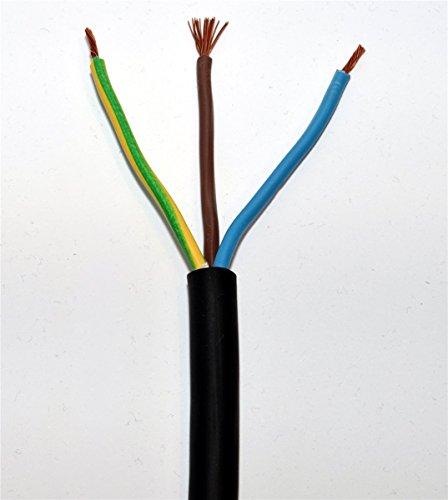 100m H07RN-F 3G1,5 Gummischlauchleitung Ring schwarz 3x1,5qmm Gummikabel
