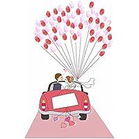 LUFA Pintura de la lona del árbol de la huella digital de la firma del coche de la novia de la boda DIY con un Inkpad