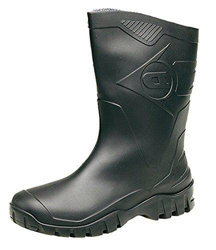 413481a3da02 Womens Dunlop Short Half Length Ankle Wellington Wellies Boots WIDE FIT  CALF UK 4 -9 BLACK