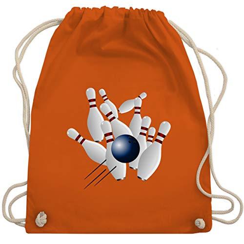Shirtracer Bowling & Kegeln - Bowling Strike Pins Ball - Unisize - Orange - WM110 - Turnbeutel und Stoffbeutel aus Bio-Baumwolle