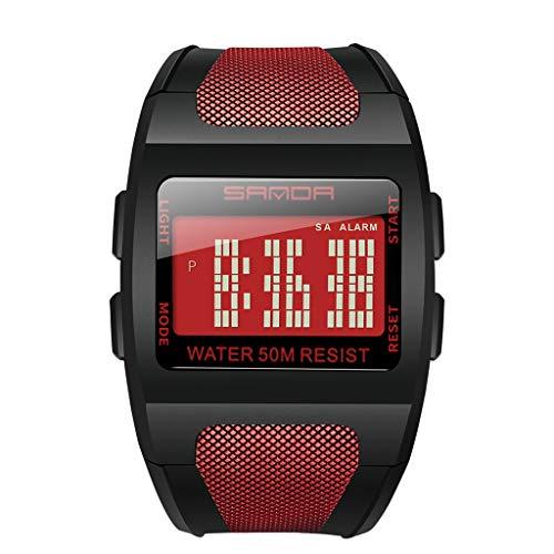 KiyomiQvQ Herren Armbanduhr Sportuhr Elektronische Uhr Multifunktional