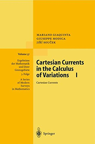 CARTESIAN CURRENTS IN THE CALCULUS OF VARIATIONS 1