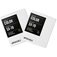 Impossible Color Film (2013 version) for Polaroid SX-70 Instant Cameras, 2 packs of 8 photos