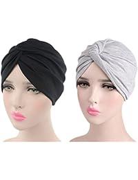 b3be4d175fa0e Sombrero Chemo de la Gorrita Tejida de Algodón de Las Mujeres Casquillo  Suave del Abrigo de