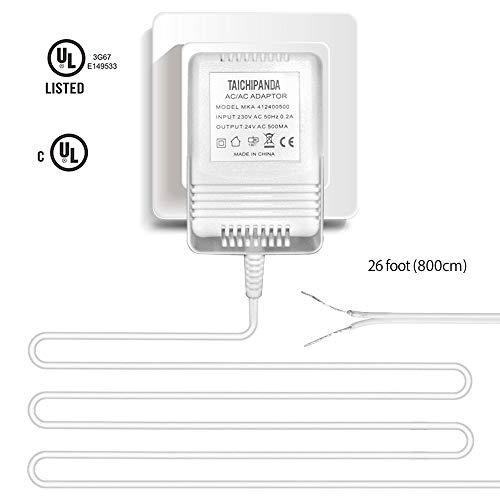 Trafo, 24 V, 500 MA, AC Netzteil, kompatibel mit allen Versionen von Ring-Türklingel und Nest Lern-Thermostat, Ecobee, Honeywell, C-Drahtadapter mit 8 m langem Kabel -